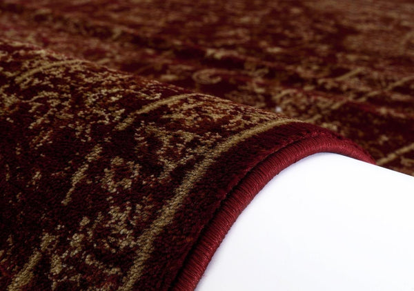 1232 Burgundy Distressed Oriental Area Rugs