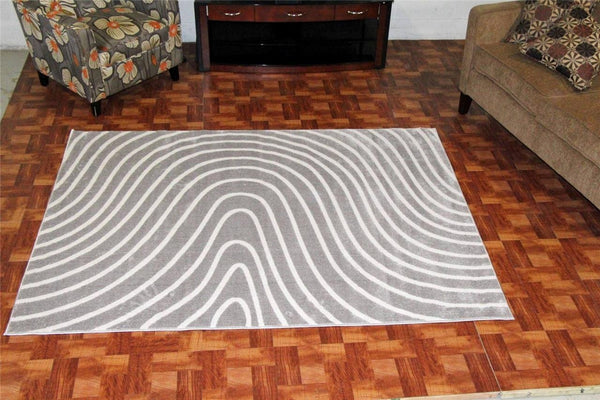 Gray Abstract Contemporary Polyester Area Rugs