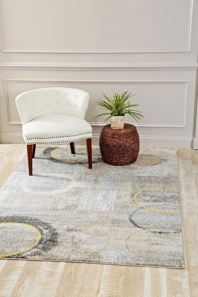 2900 Gray Yellow Distressed Contemporary Area Rugs