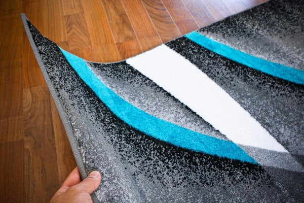 Beverly Hills Turquoise Modern Contemporary Rug