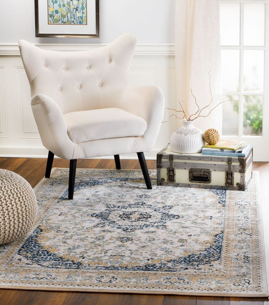 4622 Ivory Persian Distressed Oriental Area Rugs