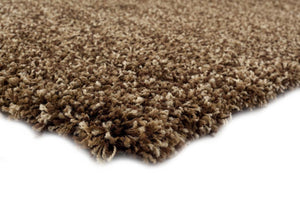 Brown Beige Shag Plain Solid Color Area Rugs