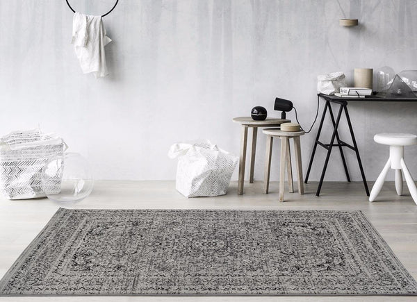 Gray Vintage Persian Oriental Area Rugs