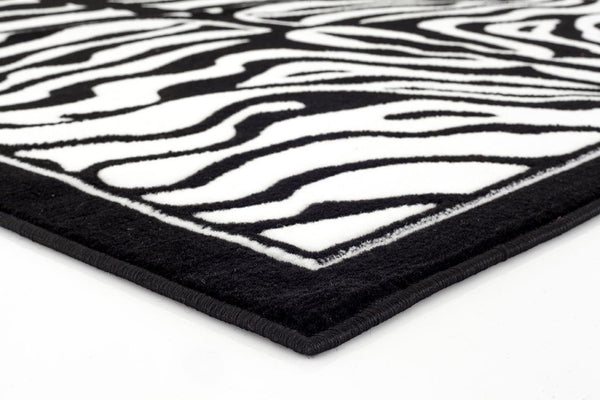 Black White Zebra Area Rugs