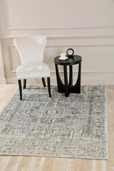 1871 Gray Distressed Oriental Area Rugs