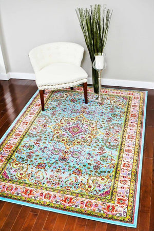 10015 Blue - Bargain Area Rugs  - 2