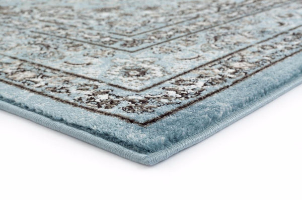 Distressed Blue Oriental Persian Tabriz Isfahan Traditional Area Rugs