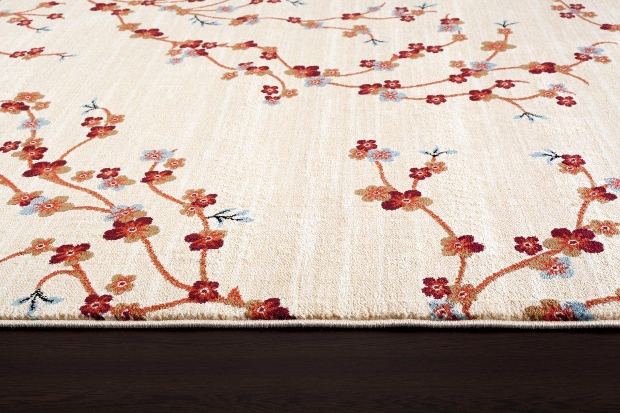 Cherry Blossom Area Rug Part - 37: ... Ivory Floral Branches Transitional Area Rugs