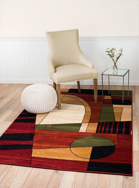 2061 Multi Color Geometric Contemporary Area Rugs