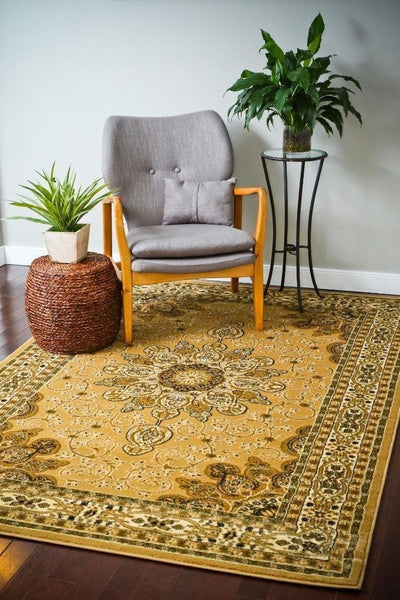 1001 Beige - Bargain Area Rugs  - 2