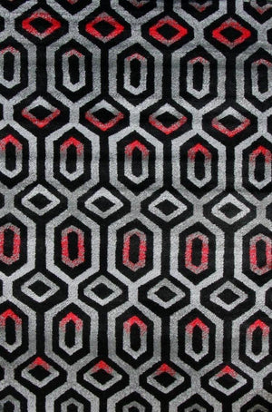 Gray Black Abstract Inexpensive Contemporary Rugs