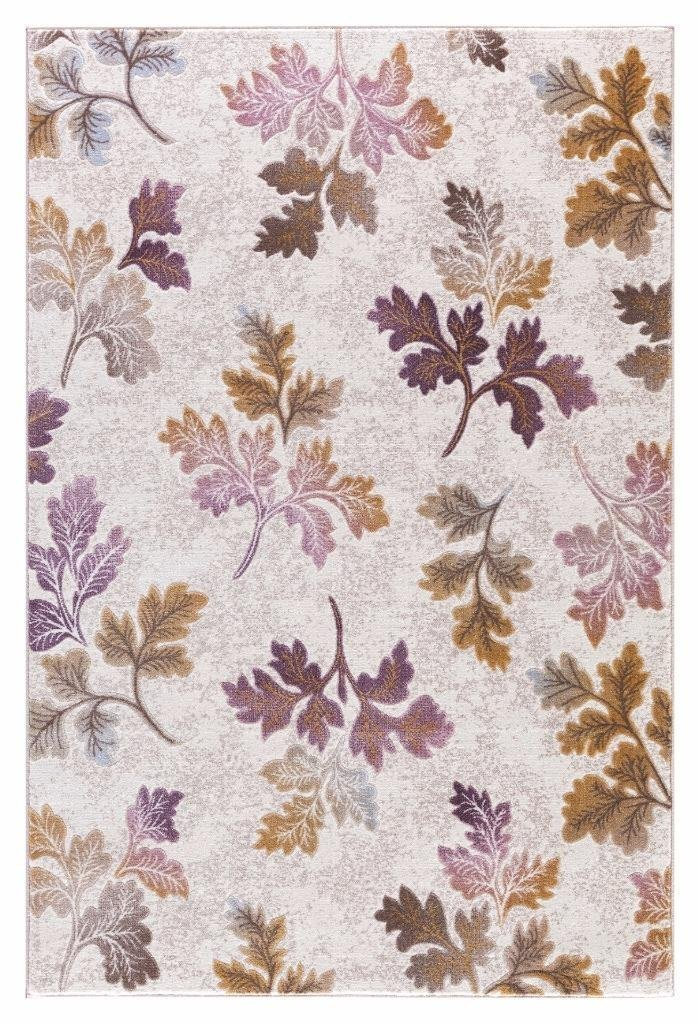 Ivory Contemporary Rug Floral Branches Design Discount Area Rugs