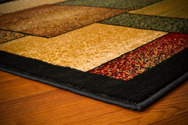 Beige Green Black Modern Trendz Contemporary Area Rugs
