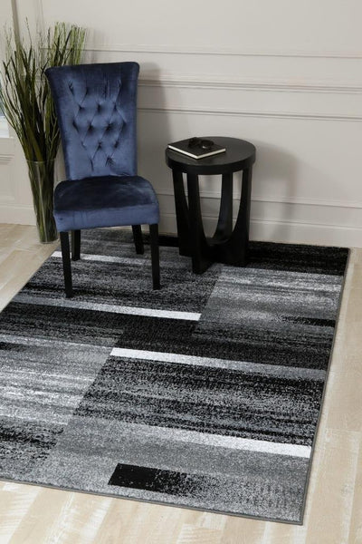 Gray Black Modern Contemporary Area Rugs