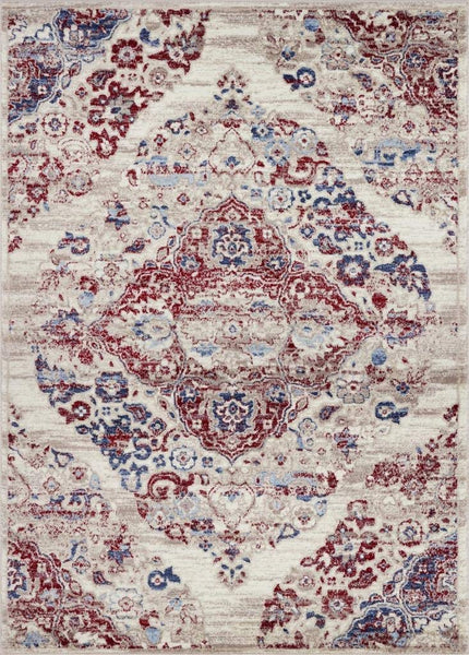 2046 Pearl Distressed Oriental Area Rugs