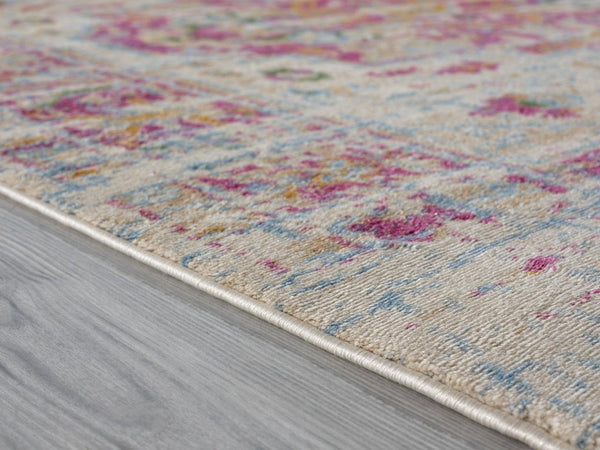 2210 Pink Distressed Oriental Area Rugs