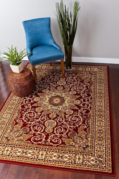 Persian Rugs Red Burgundy Isfahan Oriental Area Rugs