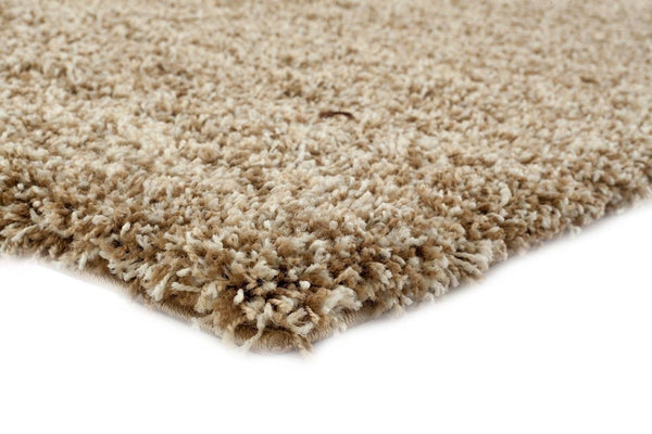 Ivory Beige Shag Plain Solid Color Area Rugs