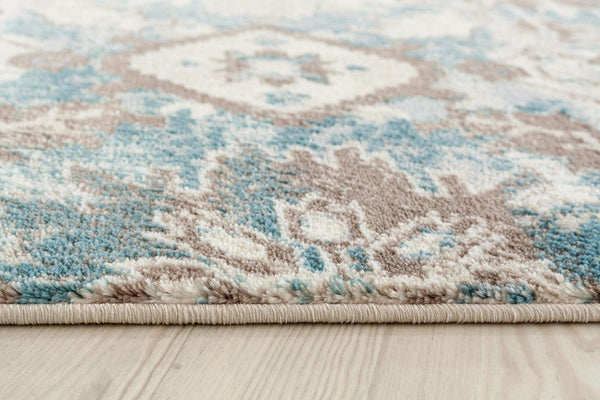 6570 Ivory Blue Distressed Oriental Area Rugs