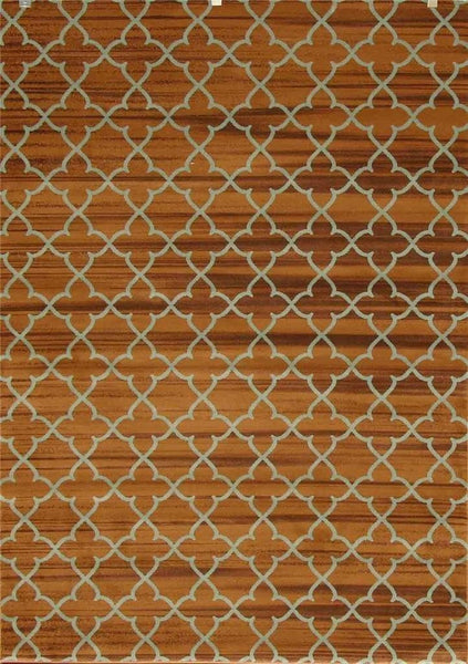 7290 Brown Trellis Area Rugs