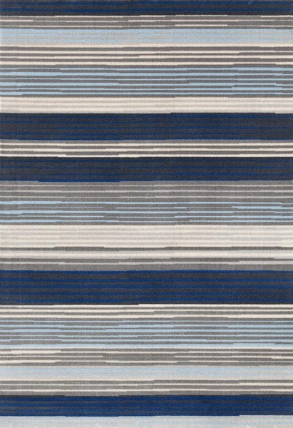 1033 Blue Contemporary Area Rugs