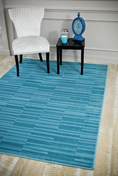 6158 Blue Carved Contemporary Area Rugs