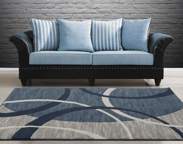 Blue Circle Contemporary Area Rugs