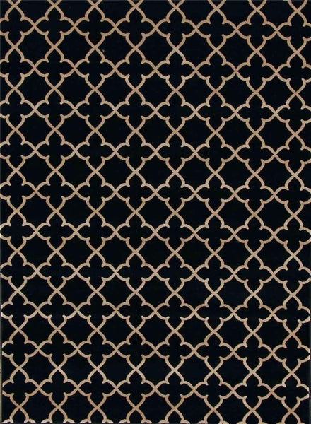 7290 Black Trellis Area Rugs