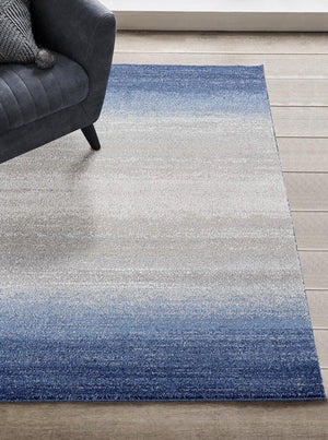 1039 Blue Gray Modern Contemporary Area Rugs