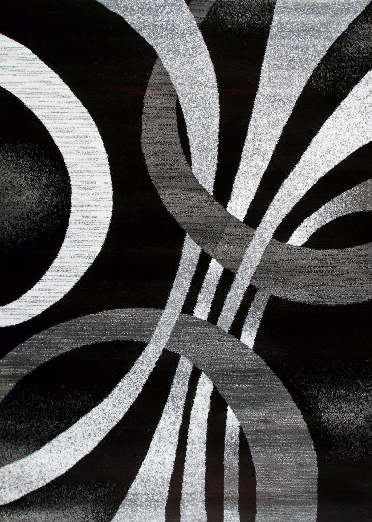 black abstract contemporary area rugs 5x8 8x11 9x12 bargain