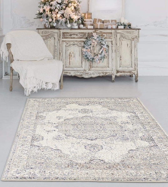 4768 Ivory Distressed Oriental Area Rugs