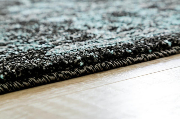 3545 Black-Blue Distressed Oriental Area Rugs