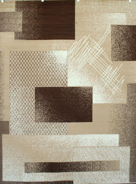 Beige Brown Contemporary Area Rugs