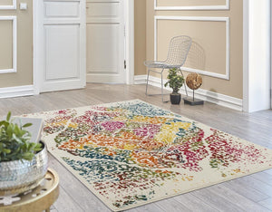 2046 Multi-Color Distressed Colorful Oriental Area Rugs