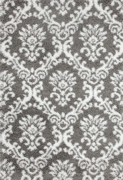 gray white damask trellis shag area rugs