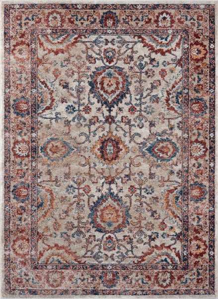 2217 Ivory Distressed Oriental Area Rugs