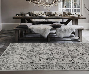 Gray Vintage Oriental Persian Area Rugs