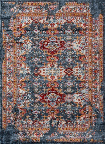 2209 Blue Distressed Vintage Persian Area Rugs