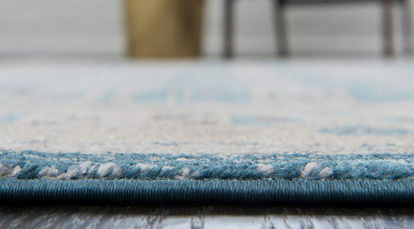 5112 Light Blue Distressed Oriental Area Rugs