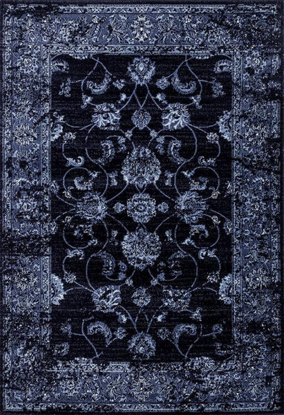3545 Navy Distressed Oriental Area Rugs