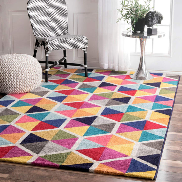 9944 Multi-Color Abstract Contemporary Area Rugs