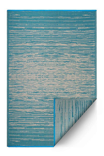 7105 Teal Modern 100% Recycled Outdoor Area Rugs