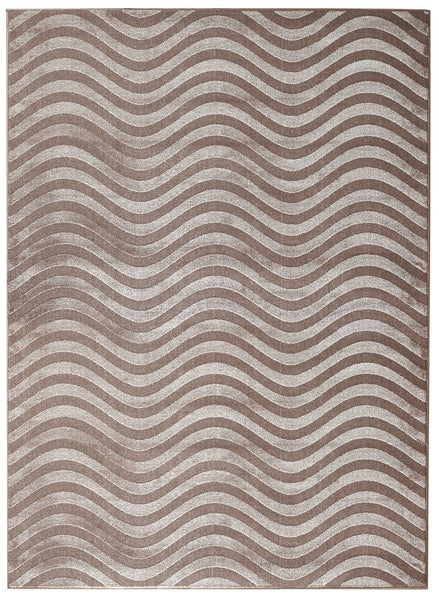 3010 Beige Polyester Area Rugs