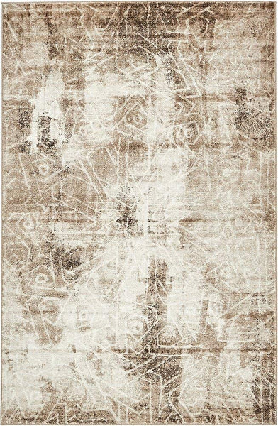 5099 Beige Distressed Oriental Area Rugs