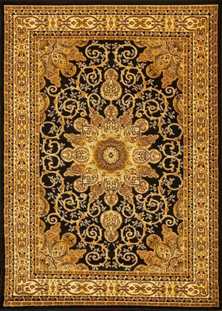 Black Medallion Isfahan Oriental Area Rugs Bargain Area Rugs