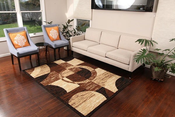 5055 Beige Contemporary Area Rugs