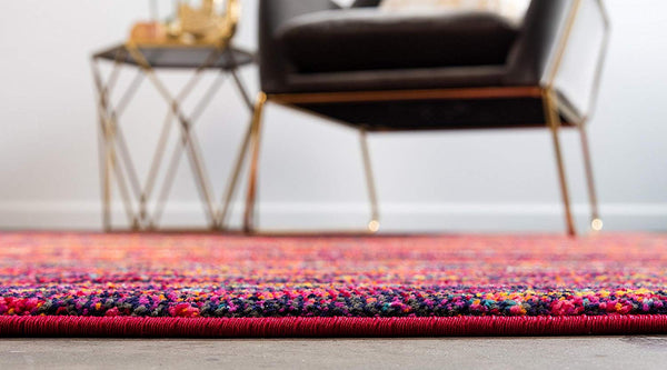 9988 Multi Color Colorful Contemporary Area Rugs