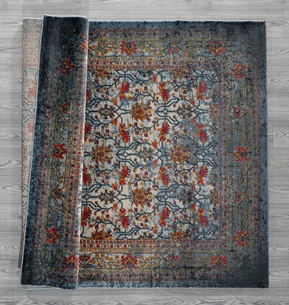 2202 Blue Distressed Vintage Persian Area Rugs