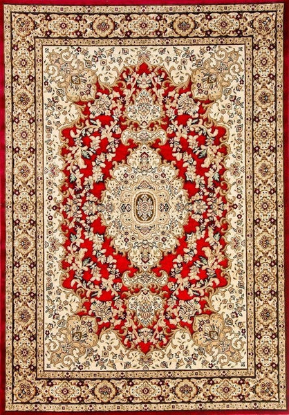 3877 Red Carved Oriental Area Rugs