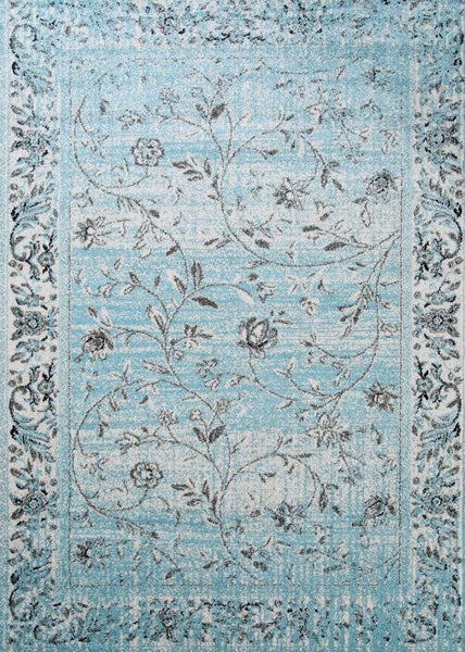 1860 Blue Distressed Oriental Area Rugs